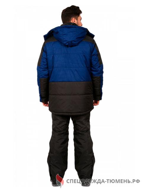 Куртка зимняя Европа (тк.Дюспо), т.синий/черный