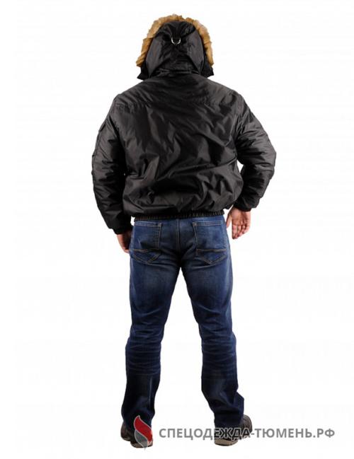 Куртка зимняя Аляска укороченная (тк.Оксфорд), черный