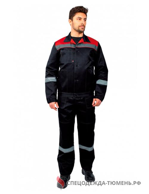 Костюм Легион-2 СОП (тк.Смесовая,210) п/к, черный/красный