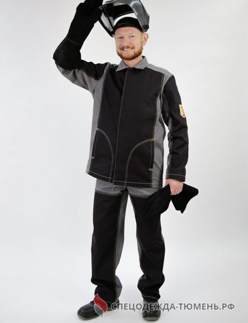 Костюм мужской для защиты от искр и брызг расплавленного металла 1 класс защиты