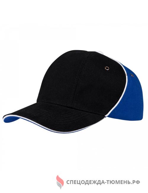 Бейсболка Unit Smart, черный/синий