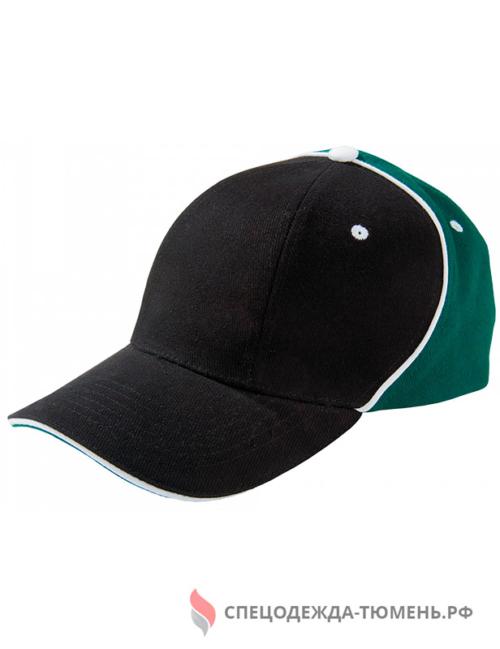 Бейсболка Unit Smart, черный/зеленый