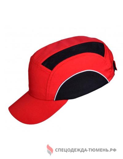 Каскетка защитная с СОП, красно-черный