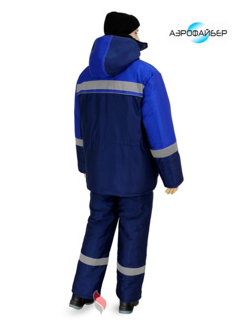 Костюм зимний Нова (полукомбинезон), т.синий/васильковый