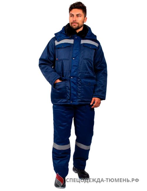 Костюм зимний Мастер (Смесовая, 210) п/к, темно-синий