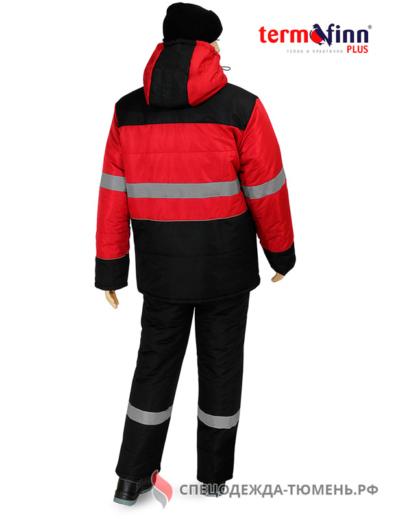 Костюм зимний НордМен (полукомбинезон), красный с черным