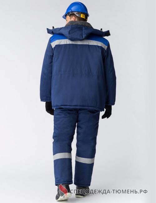 Костюм зимний Труженик-Ультра-2 (тк.Смесовая,210) п/к, т.синий/васильковый