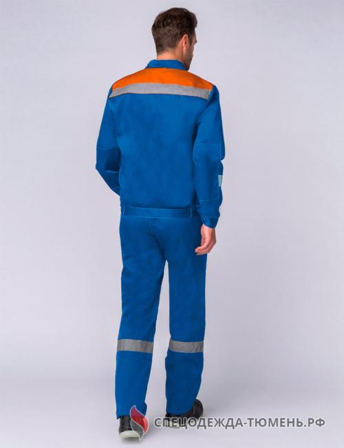 Костюм Легион-2 СОП (тк.Смесовая,210) п/к, васильковый/оранжевый