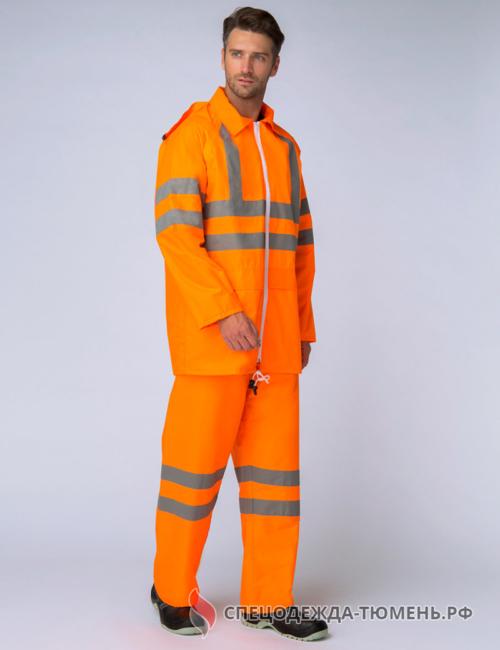 Костюм влагозащитный сигнальный СОП (ПВХ,200) брюки, оранжевый