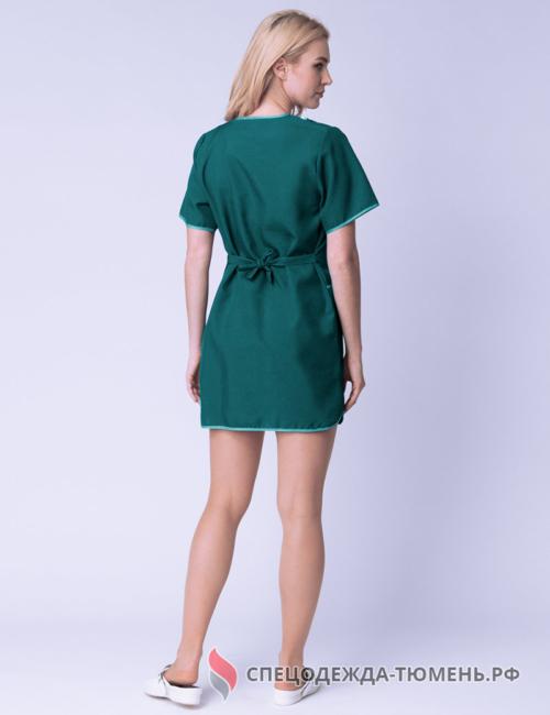 Халат женский Сакура (тк.Габардин), зеленый
