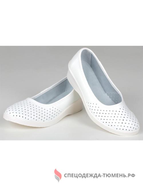 Туфли женские нат. кожа Эмануэла ПВХ ALMI (арт. 6813-00101) белые