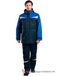 Костюм зимний КМ-10 Люкс, т.синий-васильковый