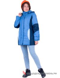 Куртка ВИРАЖ зимняя, василёк-т/синий, женская