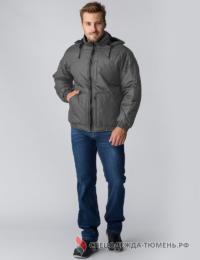 Куртка демисезонная Бомбер-Люкс (тк.Дюспо), серый