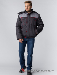 Куртка зимняя укороченная Фаворит NEW (Балтекс, 210), темно-серый/серый