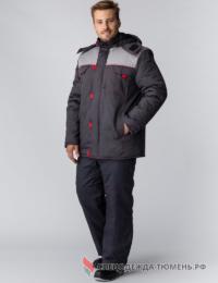 Куртка зимняя Фаворит NEW (Балтекс, 210), т.серый/серый